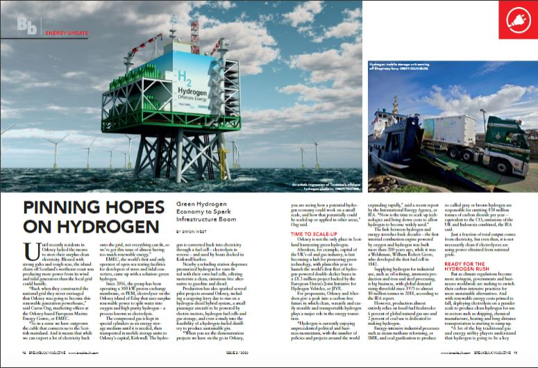 Concept of offshore green hydrogen production