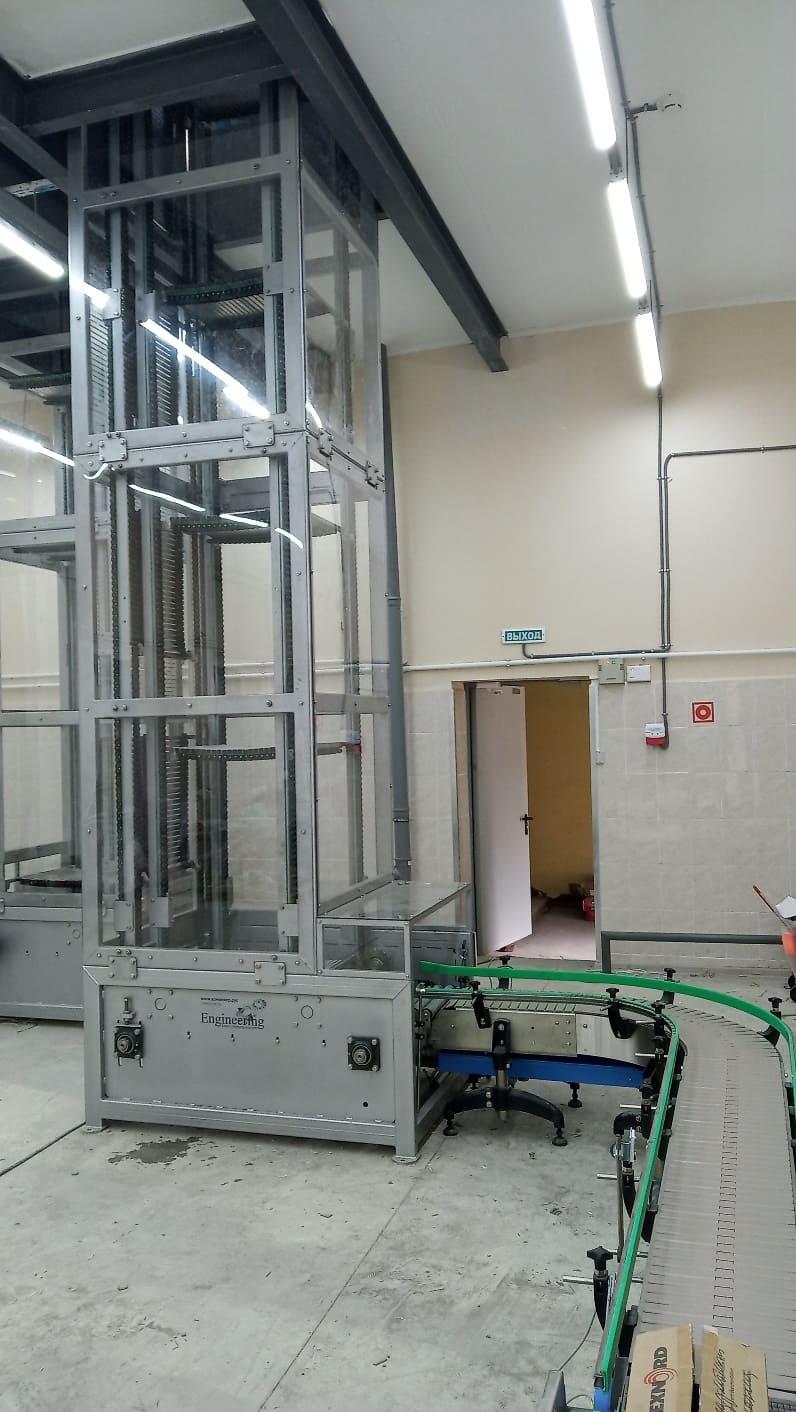 лифт для подъема и спуска продукции