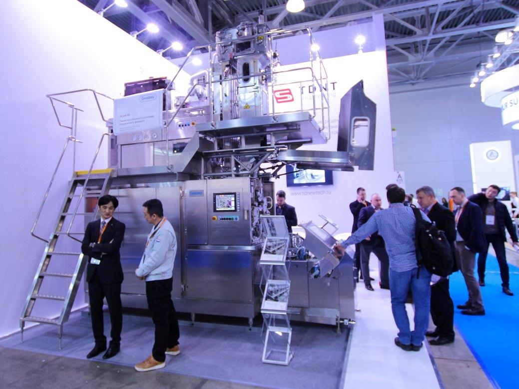 линия розлива Shikoku Kakoki на DairyTech 2021