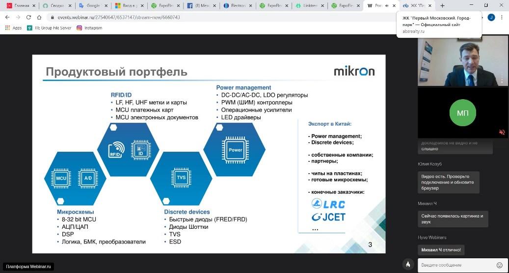 """Продуктовый портфель ГК """"Микрон"""""""