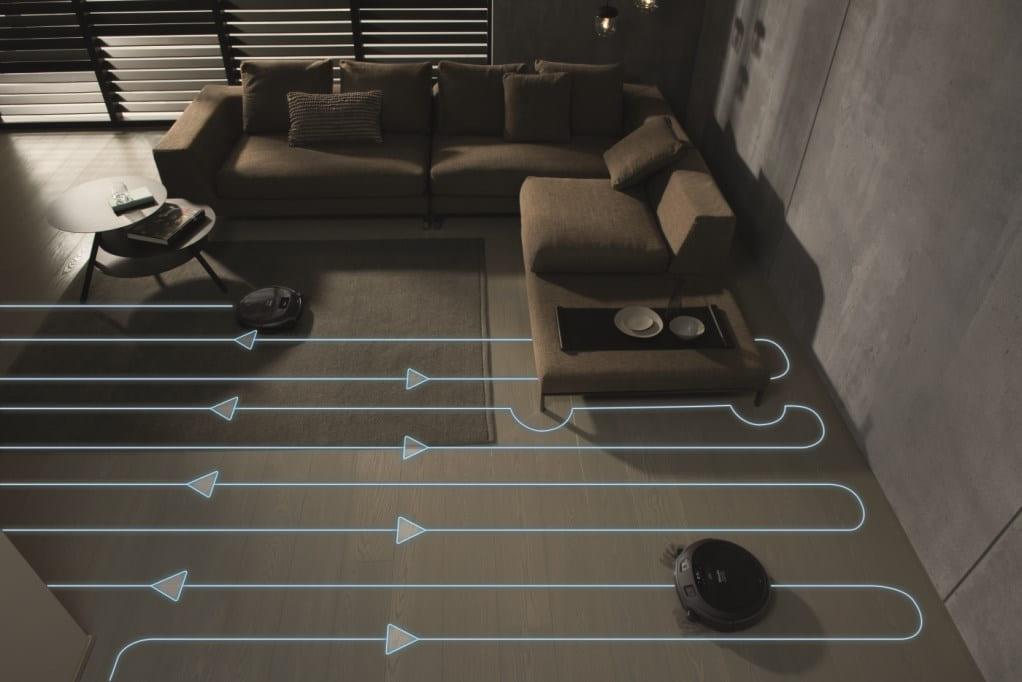 Траектория робота-пылесоса