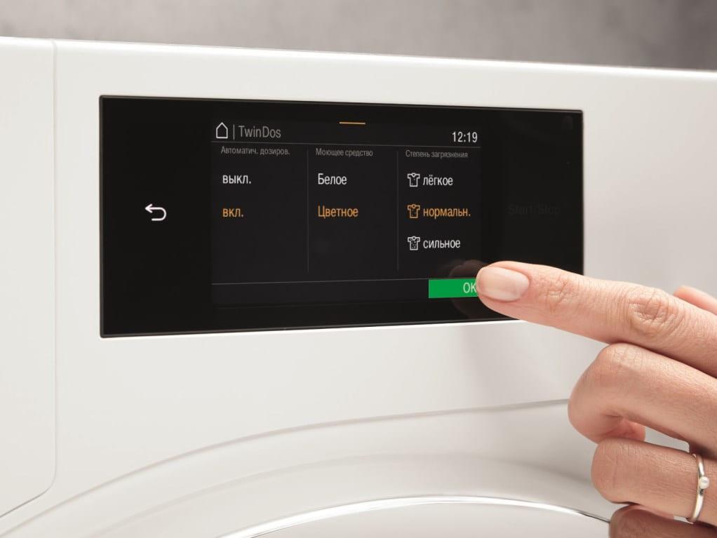 Панель управления - стиральная машина Miele