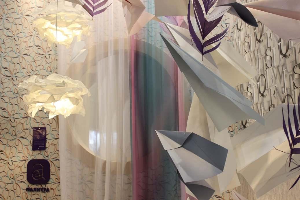 Ткани, обои на выставке MosBuild 2021