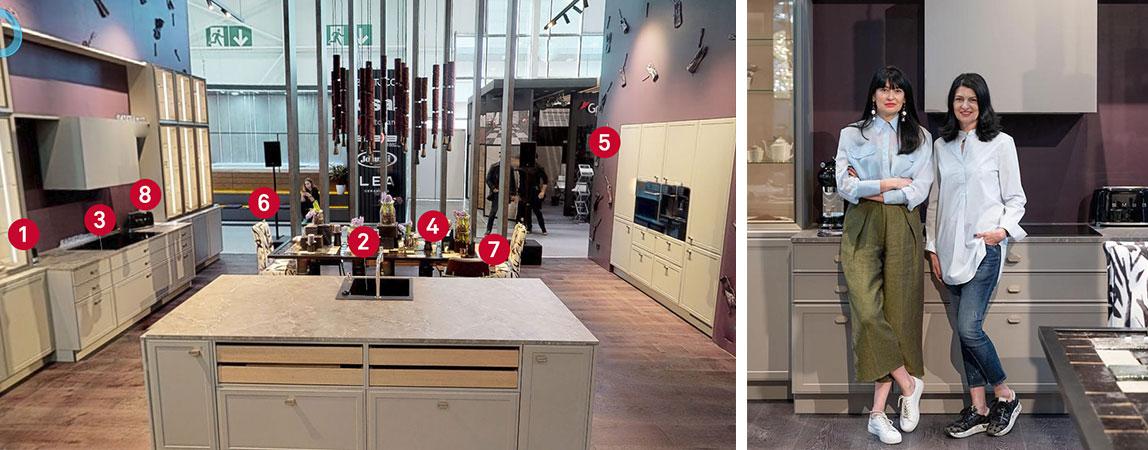 Кухня-столовая по проекту Sisters Design