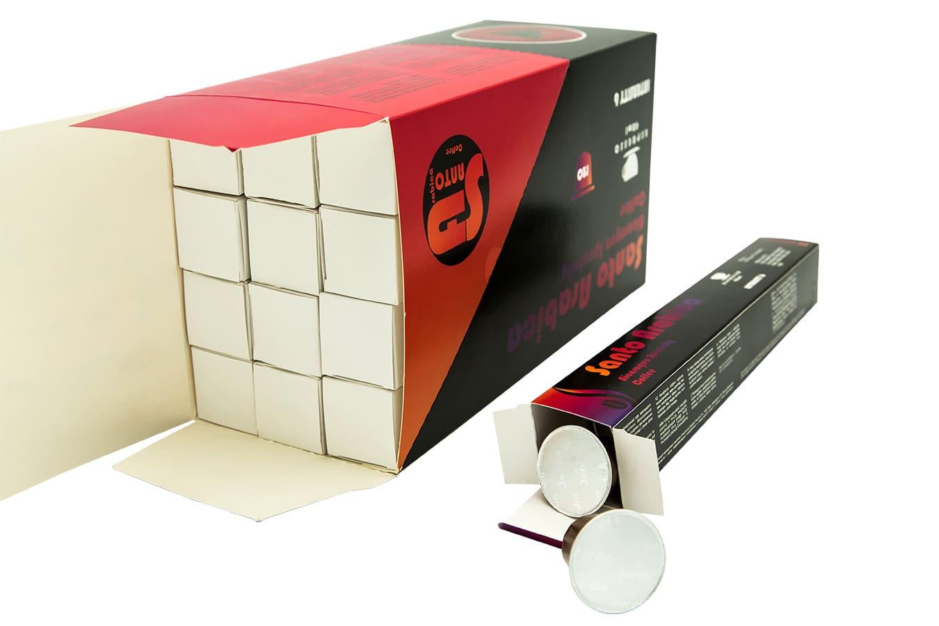тестовые образцы коробок под капсулы для кофемашины
