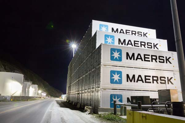 The world's largest container shipper, Maersk, will