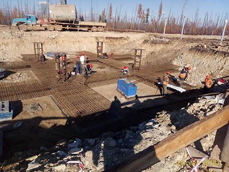 На фото1: Denyo DCW-480ESW нового поколения Evo III Limited Edition на строительстве объектов «Сила Сибири».