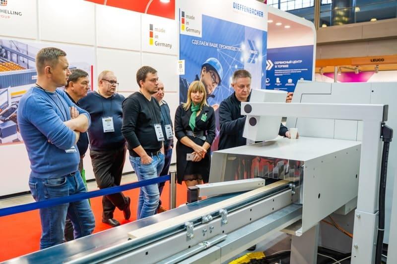 Выставка деревообработки в Москве Woodex, немецкий павильон