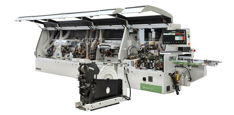 односторонний кромкооблицовочный станок, предназначенный для индивидуальных и мелкосерийных производств