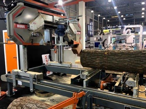 Горизонтальная ленточнопильная пилорама Industrial sawmill F-MTK
