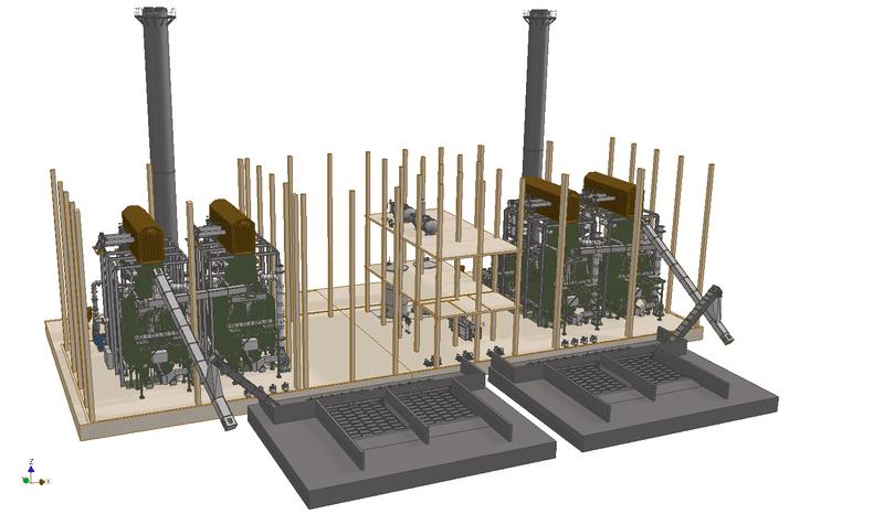 Оборудование для котельных установок на биомассе, выставка Woodex