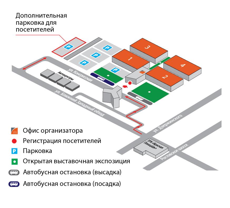 ЮГАГРО сельскогохозяйственная выставка парковка
